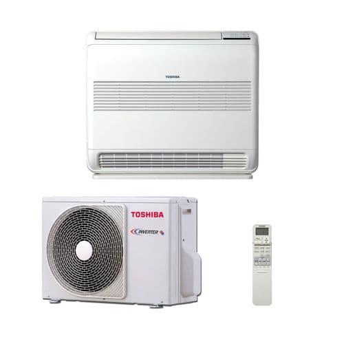 Toshiba Air Conditioning Heat Pump Floor Console RAS-B10UFV-E1 2.5Kw/9000Btu Inverter A++ 240V~50Hz
