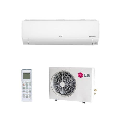 Lg Air Conditioning Deluxe DC12RQ.NSJ Wall Mounted 3.5Kw/12000Btu A++ R32 Install Kit