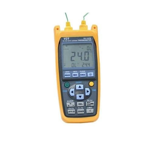 MAXTHERMO-GITTA Hand Held YC-747D Thermometer / Data logger Supplied With 2 Probes