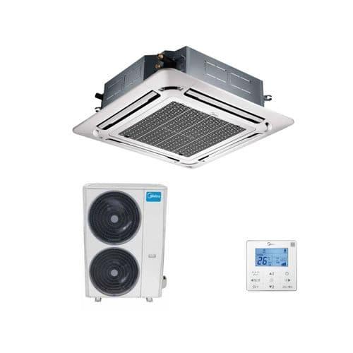 Midea Air Conditioning Super Slim Round Flow Cassette Heat Pump Inverter 5Kw To 16Kw A++