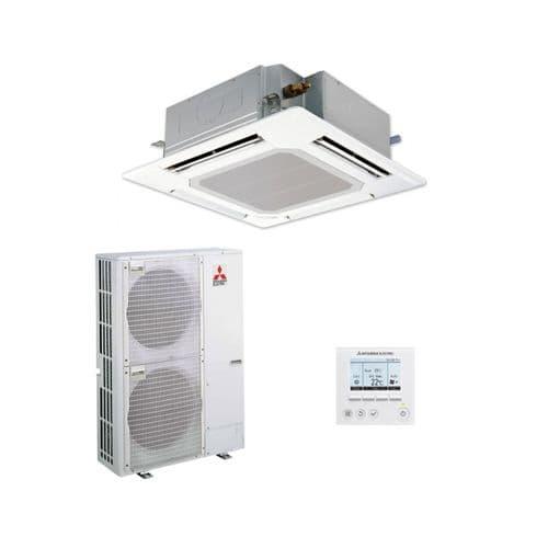 Mitsubishi Electric Air Conditioning Cassette PLA-ZM140EA Power Inverter Heat Pump 14Kw/48000Btu R32 A++ 240V/415V~50Hz