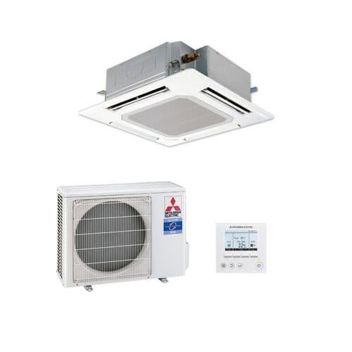Mitsubishi Electric Air Conditioning Cassette PLA-ZM71EA Power Inverter Heat Pump 7Kw/24000Btu R32 A++ 240V~50Hz