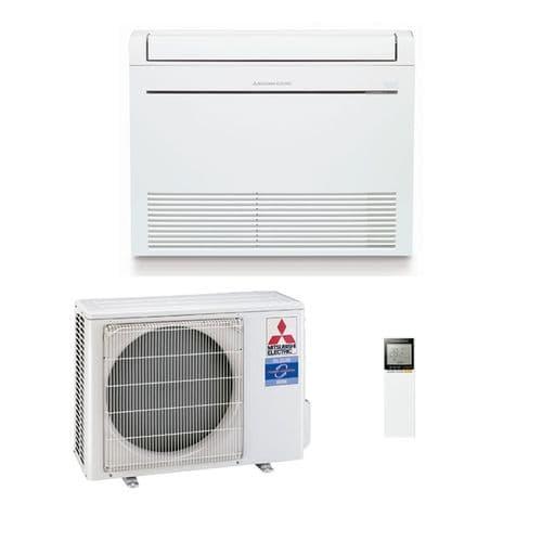Mitsubishi Electric Air Conditioning Heat Pump Inverter MFZ-KT25VG Floor 2.5Kw/9000Btu Install Kit