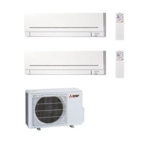Mitsubishi Electric Air Conditioning MXZ-2F33VF3 Multi 2 x MSZ-AP25VGK 2.5kW Wall A++ 240V~50Hz