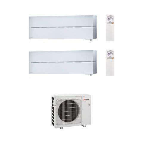 Mitsubishi Electric Air Conditioning MXZ-2F33VF3 Multi 2 x MSZ-LN25VG2 2.5kW Wall A++ 240V~50Hz