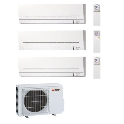 Mitsubishi Electric Air Conditioning MXZ-3F68VF3 Multi 3 x MSZ-AP25VGK 2.5kW Wall A++ 240V~50Hz