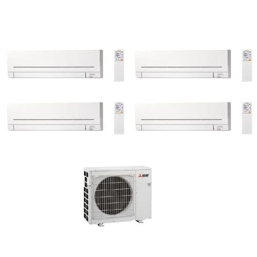 Mitsubishi Electric Air Conditioning MXZ-4F72VF3 Multi 4 x MSZ-AP25VGK 2.5kW Wall A++ 240V~50Hz
