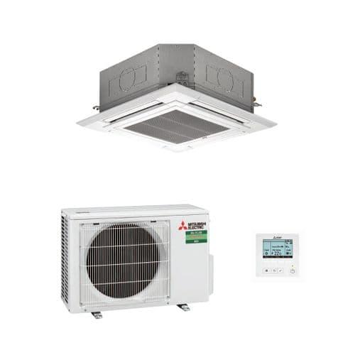 Mitsubishi Electric Air Conditioning PLA-M100EA Cassette Heat Pump 10Kw/36000Btu A+ R32 240V~50Hz