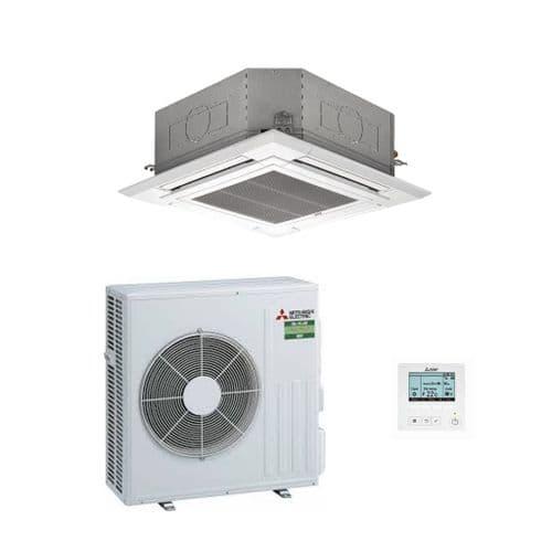 Mitsubishi Electric Air Conditioning PLA-M125EA Cassette Heat Pump 12Kw/42000Btu A R32 240V~50Hz
