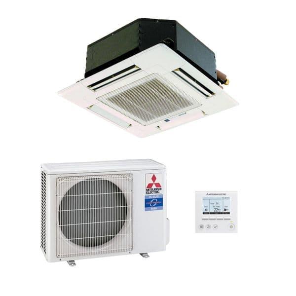 Mitsubishi Electric Air Conditioning SLZ-KA25VAQ Mini Cassette Inverter Heat Pump 2.5Kw/9000Btu A+ 240V~50Hz