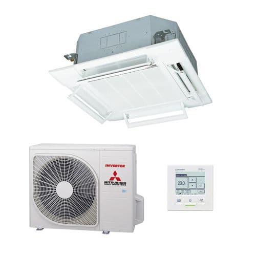 Mitsubishi Heavy Industries Air Conditioning FDT125VH Cassette Heat Pump 12.5Kw/42000Btu A+ R32 230V