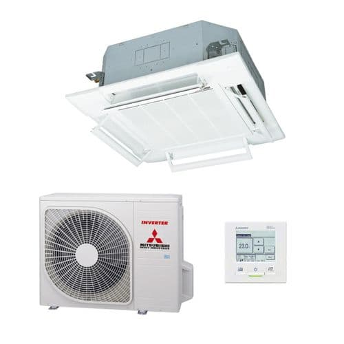Mitsubishi Heavy Industries Air Conditioning FDT140VH Cassette Heat Pump 14Kw/48000Btu A+ R32 415V