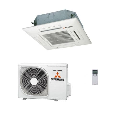 Mitsubishi Heavy Industries Air Conditioning FDTC35VH1 Compact Cassette 3Kw/12000Btu Install Kit