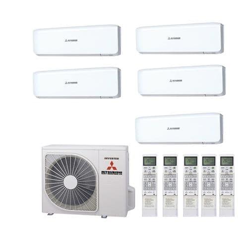 Mitsubishi Heavy Industries Air Conditioning SCM100ZM-S Multi Inverter Heat Pump 5 x SRK25ZS-S A+ 240V~50Hz
