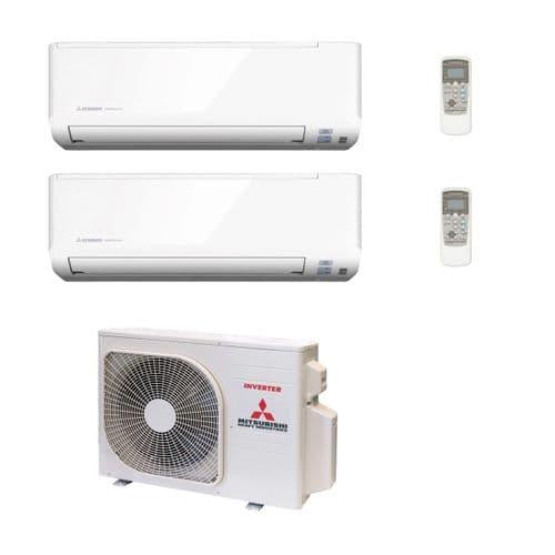 Mitsubishi Heavy Industries Air Conditioning SCM40ZS-W R32 Multi 2 x SKM25ZSP-W Wall Mount 240V~50Hz