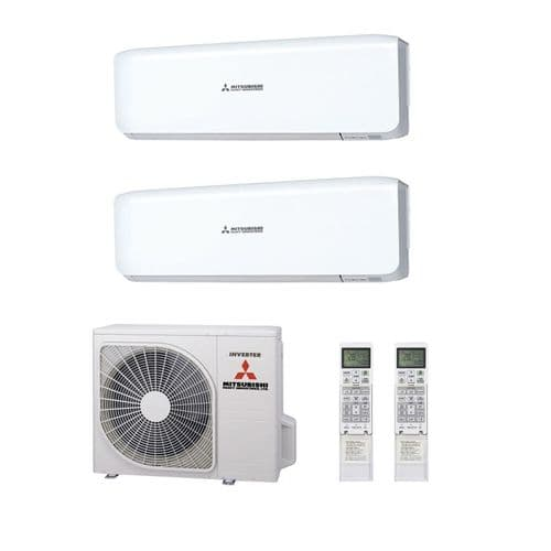 Mitsubishi Heavy Industries Air Conditioning SCM45ZS-S Multi 1 x SRK25ZS-S 1 x SRK35ZS-S Wall Mount