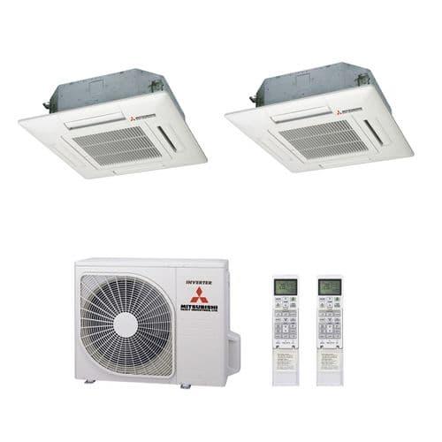 Mitsubishi Heavy Industries Air Conditioning SCM60ZM-S Multi Inverter Heat Pump 2 x FDTC35VF Cassettes A+ 240V~50Hz