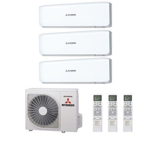 Mitsubishi Heavy Industries Air Conditioning SCM60ZS-S Multi 3 x SRK20ZS-S Wall Mounted A 240V~50Hz