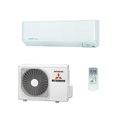 Mitsubishi Heavy Industries Air Conditioning SRK25ZSP-W Wall 2.5Kw/9000Btu A R32 Install Kit