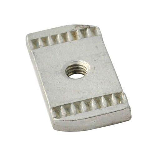 Pack of 100 Channel Rail Nut M12 Plain