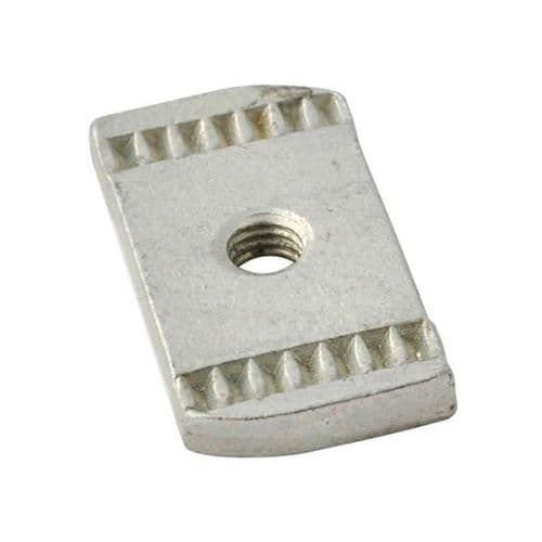 Pack of 100 Channel Rail Nut M8 Plain