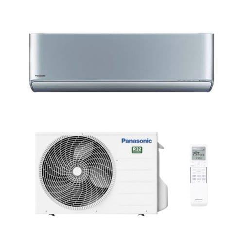 Panasonic Air Con Etherea CS-XZ25XKEW Silver Wall Mount Heat Pump R32 A+++ 2.5Kw/ 9000Btu Wi-Fi
