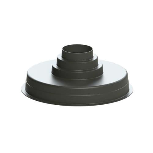 Polymer Plenum Box Black Plastic Finish 530mm Round Multi-spigot 150, 200 & 250mm
