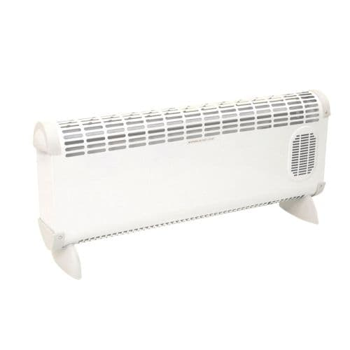 Prem-I-Air EH1664 'Bajo' 2.5kW Turbo Fan Convector Heater With Thermostat And 3 Heat Settings 2.5Kw/8000Btu 240V~50Hz