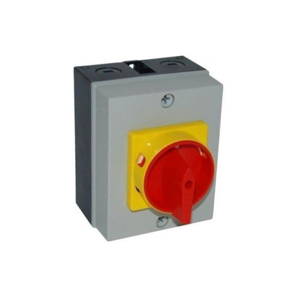 Rotary Isolator SALZER IP66 40 Amp 4 Pole