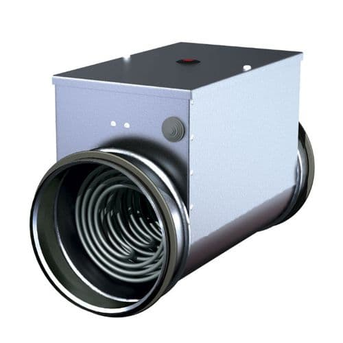 S&P Metal Duct Heater Battery With Integrated Temperature Controller Kit 125mm 240V~50Hz