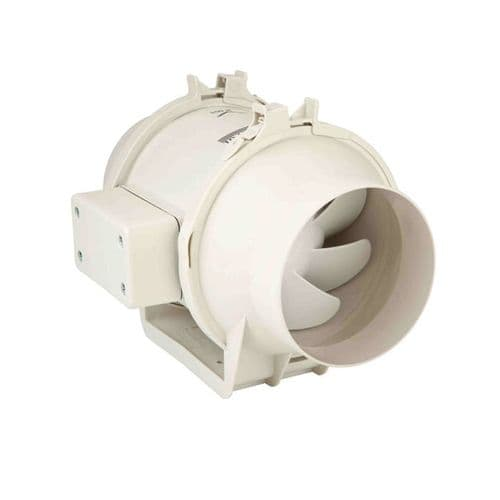 S&P Plastic Duct Centrifugal Fan With Mounting Plate And Removable Motor 250mm 1300M3/Hr 240V~50Hz