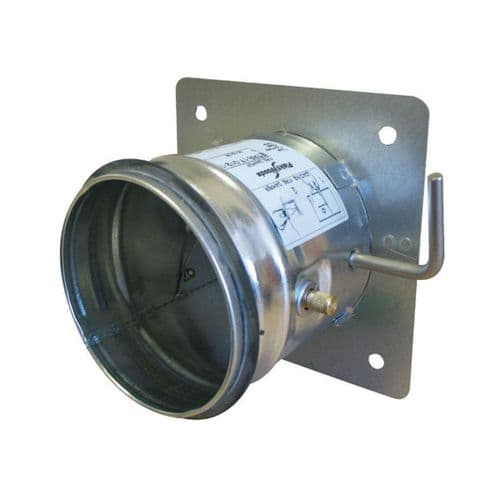 S&P Single Leaf Metal Duct Fire Damper With EPDM Rubber Gaskets 125mm