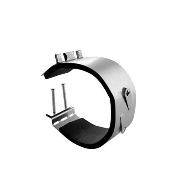 S&P Spiral Ducting Fast Anti-Vibration Clamp With Mounting Screw Clips 200mm