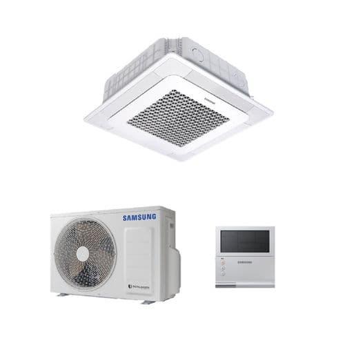Samsung Air Conditioning 4-Way Ceiling Cassette Inverter Heat Pump R32 A++
