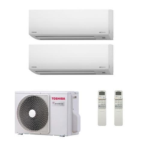 Toshiba Air Conditioning RAS-2M14S3AV-E Multi Room Inverter Heat pump 2 x Suzumi2.5Kw/9000Btu A++ 240V~50Hz
