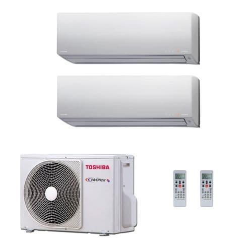 Toshiba Air Conditioning RAS-2M18S3AV-E Multi Room Inverter Heat pump Daiseikai 2 x 3.5Kw/12000Btu A++ 240V~50Hz