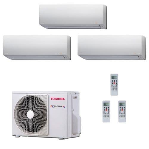 Toshiba Air Conditioning RAS-3M26S3AV-E Multi Room Inverter Heat pump Daiseikai 3 x 3.5Kw/12000Btu A++ 240V~50Hz