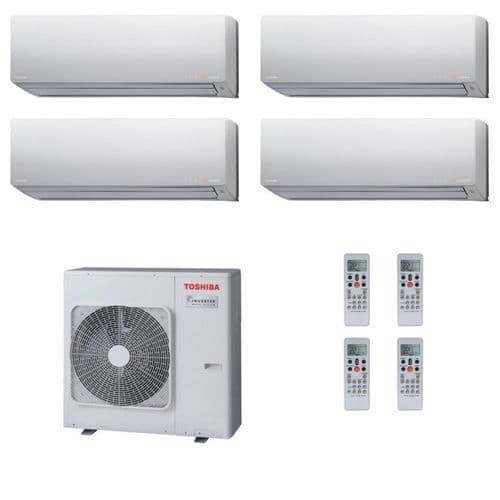 Toshiba Air Conditioning RAS-4M27S3AV-E Multi Room Inverter Heat pump Daiseikai 4 x 3.5Kw/12000Btu A++ 240V~50Hz