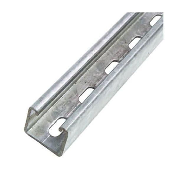 Unistrut Heavy Duty Steel Slotted Channel Rail 3 Meter length 41 x 41 x 3m