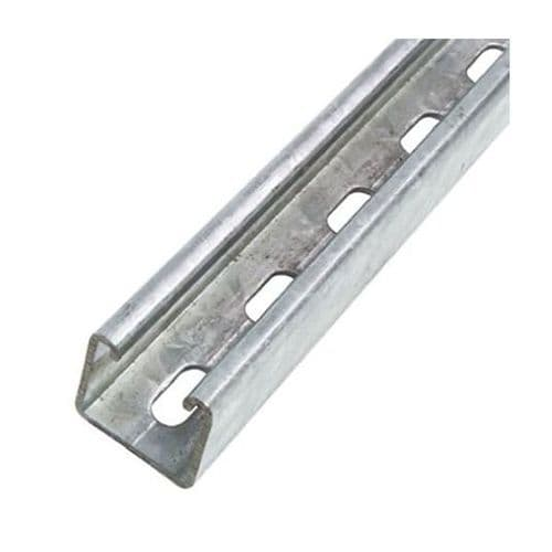 Unistrut Heavy Duty Steel Slotted Channel Rail 3 Meter length 41 x 41 x 3m
