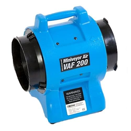 "VAF-200 VAF-0200240 Heavy Duty Miniveyor Air Mover 200mm 8"" EU Schuko plug 1350 m3 / Hr 240V~50Hz"