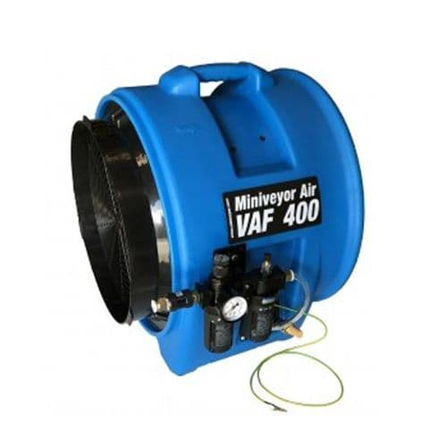 "VAF-400P-FRL Heavy Duty Miniveyor Air Mover 400mm 16"" Pneumatic Safe Fan 7500 m3 / Hr 110/230V~50Hz"
