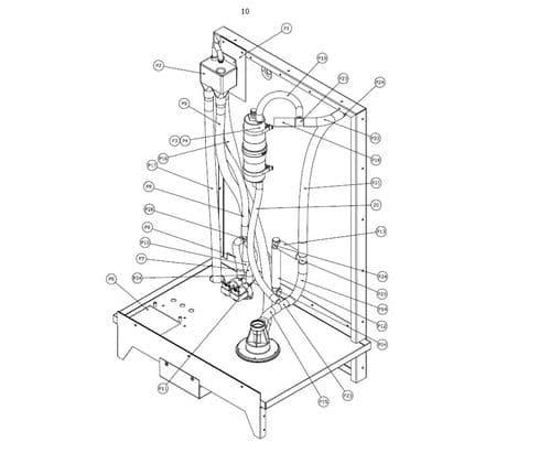 Vapac Spare Part 1190175 Float Switch Level Sensor RHV