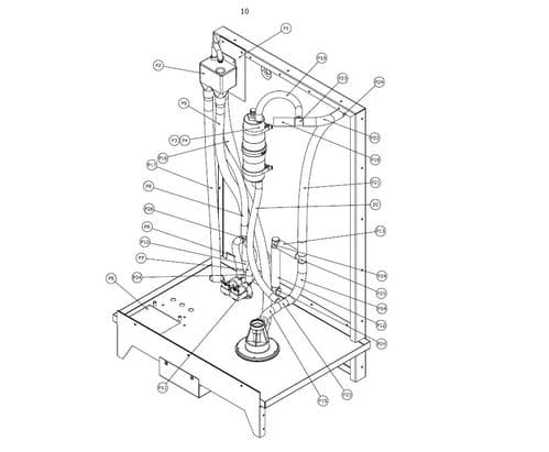 Vapac Spare Part 3910168 Tundish Fill Up Cup Vapac SRS 4