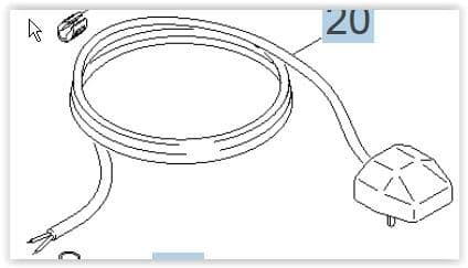 Puzzi 10/1 & Puzzi 10/2 Mains Lead UK Plug