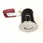Evolve fire rated IP65 mains voltage shower downlight (available in 3 finishes)