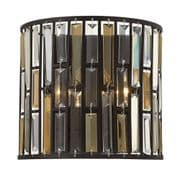 Gemma Wall Light In Vintage Bronze with Amber Pearl and Clear Crystal Prisms - HINKLEY HK/GEMMA2/A VBZ