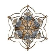 Leila Wall Light in Burnished Silver and Bauhinia Crystal - FEISS FE/LEILA1