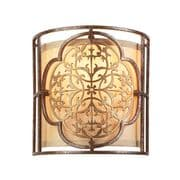 Marcella Wall Light in Bronze and Gold Patina with a Co-ordinating Fabric Shade and Glass Diffuser - FEISS FE/MARCELLA/1