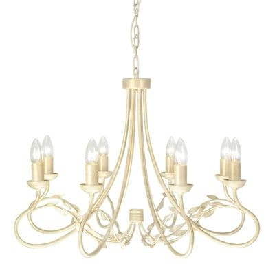 Olivia 8 Light Fitting in an Ivory Gold Finish - ELSTEAD OV8 IG